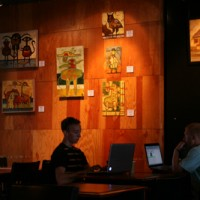 Cafe Vita Show of Oil Paintings