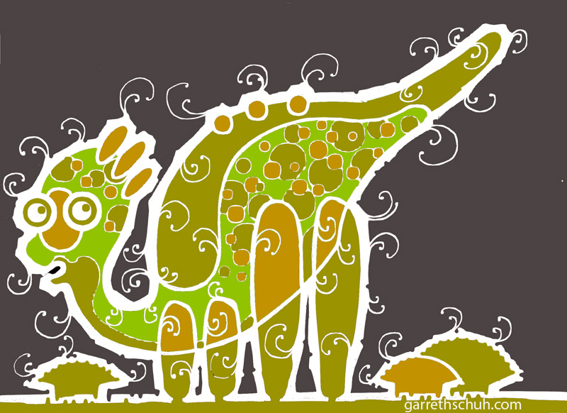 cr BABY BRONTOSAURUS GREEN 2008 graphic