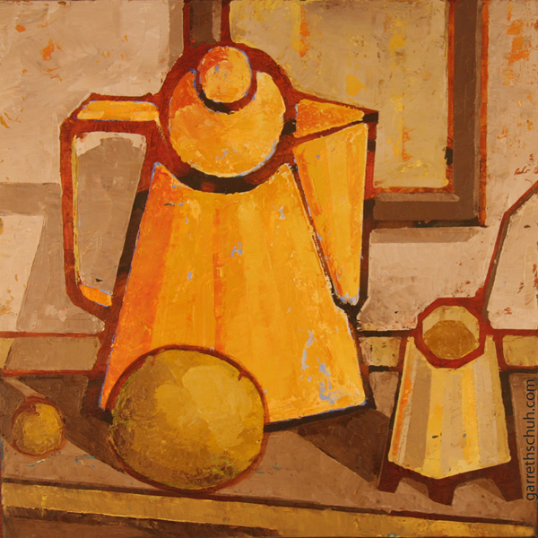 cr COFFEE SERVICE 2010 12x12 oil on plywd copy