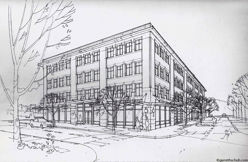 architecture buildings drawings. Cr BELLINGHAM DEVELOPMENT OFFICE Rendering Architecture Buildings Drawings