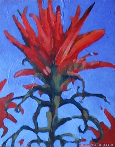 cr DESERT PAINTBRUSH 2002 12x18 oil on canvas