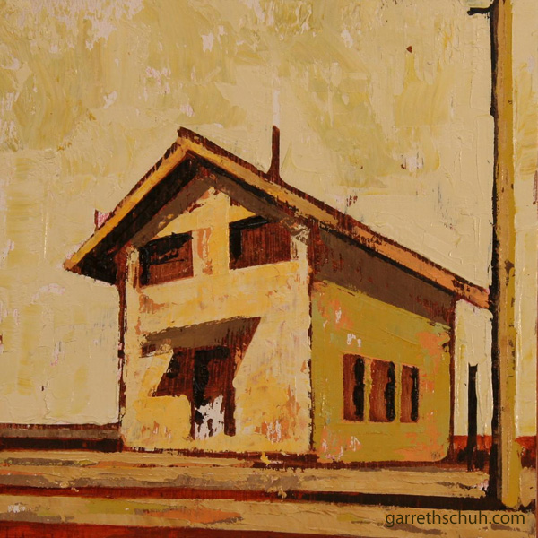cr INDUSTRIAL SHED 2010 8X8 oil on plywd