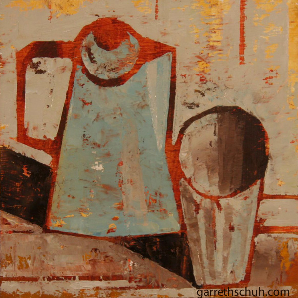 cr STILL LIFE WITH MILKSHAKE 2010 8X8 oil on plywd