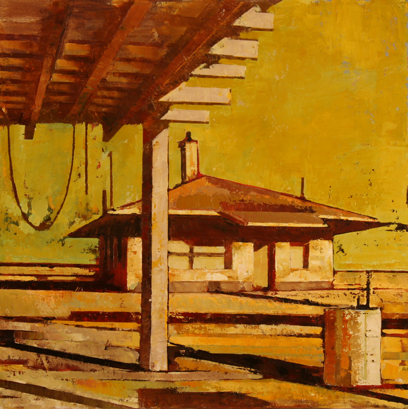 cr BRICK YARD 2011 20x20 oil on canvas