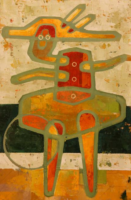 w BALLERINA 2011 16x24.5 oil on canvas over hdf