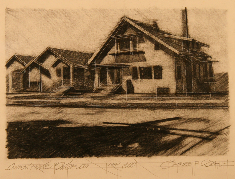 web QUEEN ANNE BUNGALLOWS - graphite on paper