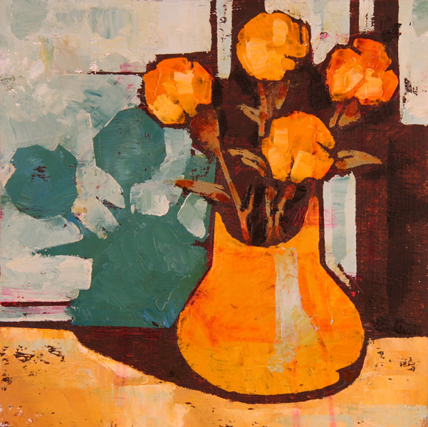 w BOUQUET 2011 8x8 oil on plywd