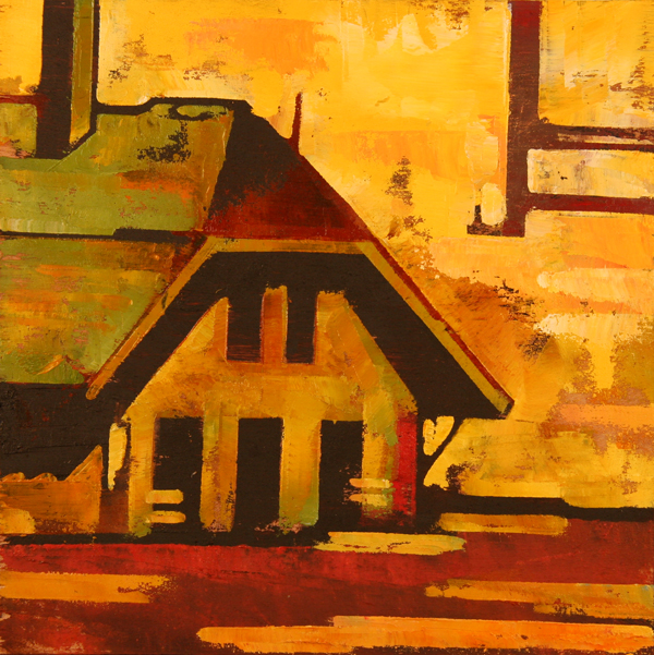 w CHALET 2011 8x8 oil on plywd