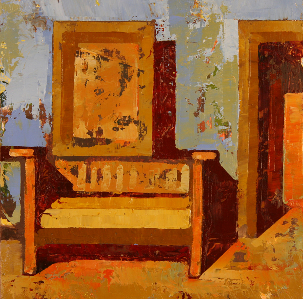 w GIANT CHAIR 2011 8x8 oil on plywd