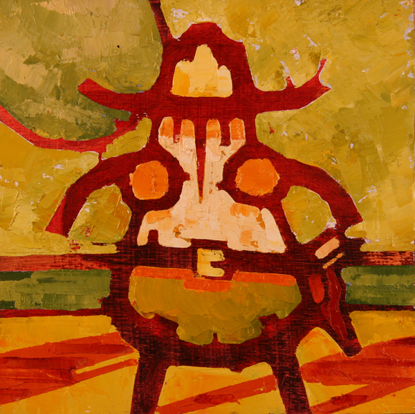 w HIGH NOON 2011 8x8 oil on plywood