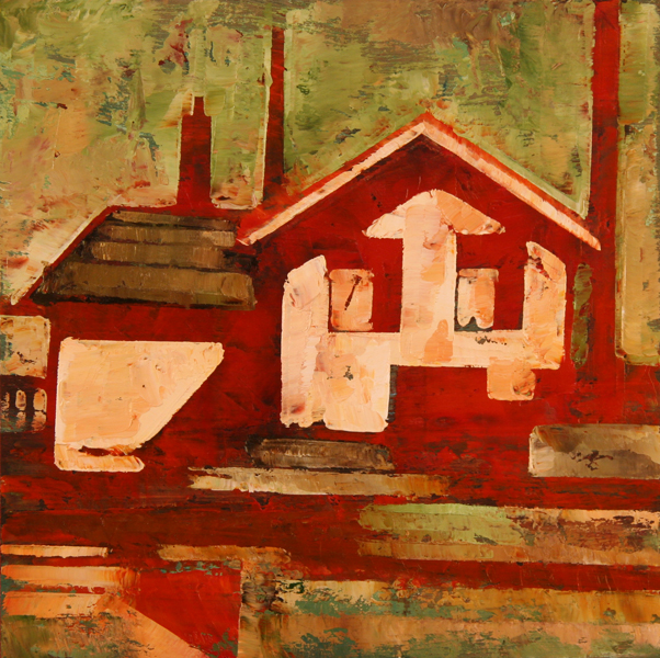 w TIN SHOP 2011 8x8 oil on plywd