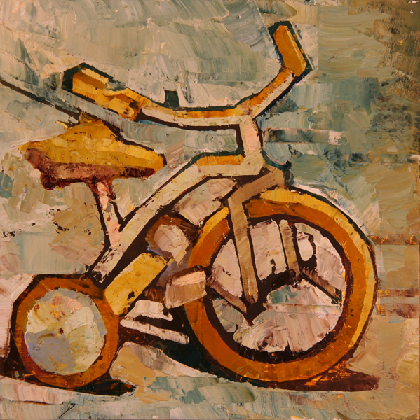 w TRICYCLE 2011 8x8 oil on plywd