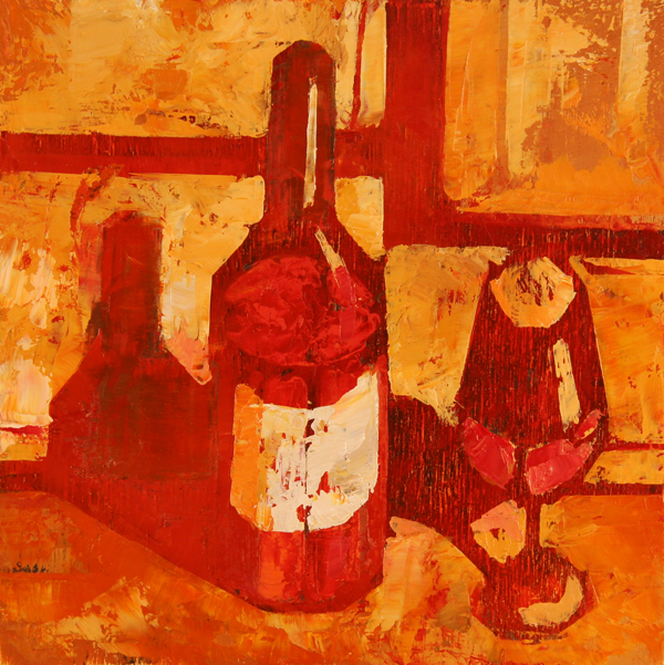 w VINO ROSSO 2011 8x8 oil on plywood