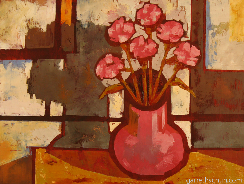 w POSIES 2012 14x8 oil on plywood