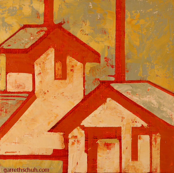 w CHIMNEY 2012 8X8 oil on plywood