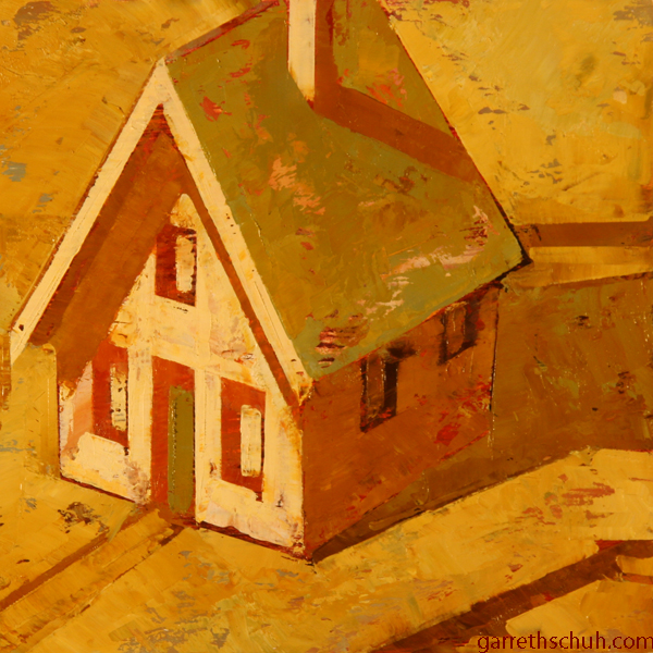 w COTTAGE 2012 8X8 oil on plywood