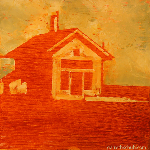 w ORANGE BLEND 2012 8X8 oil on plywood