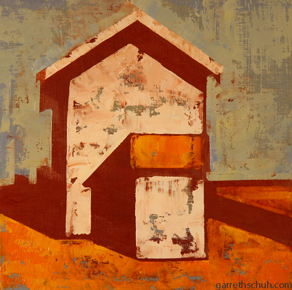 w SHED 2012 8X8 oil on plywood
