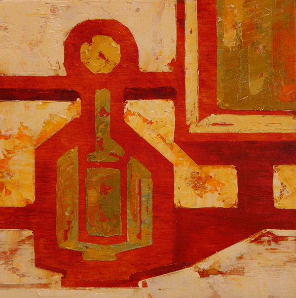 w BOTTLE 2013 8X8 oil on plywood