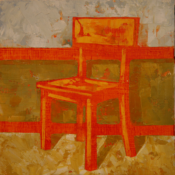 w CHAIR 2013 8X8 oil on plywood
