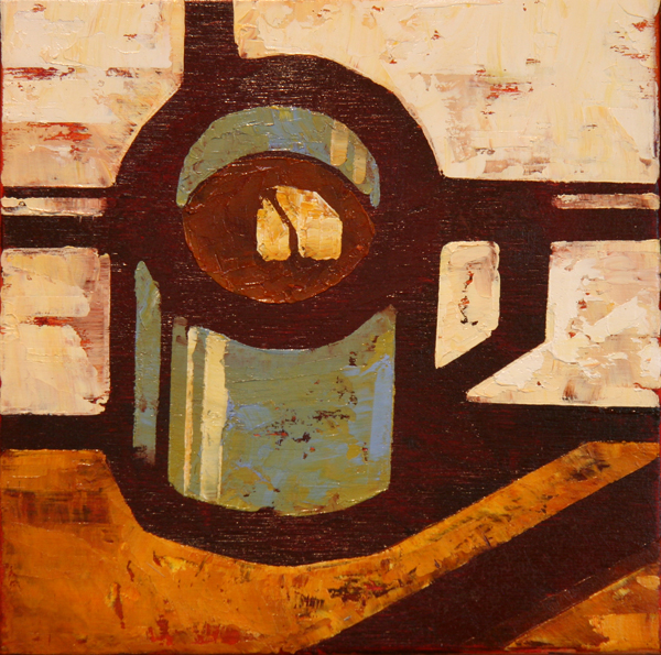 w COFFEE MUG 2013 8X8 oil on plywood