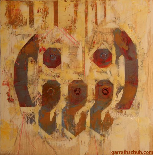 w CTHULU EMOTICON 2014 8X8 oil on plywood copy