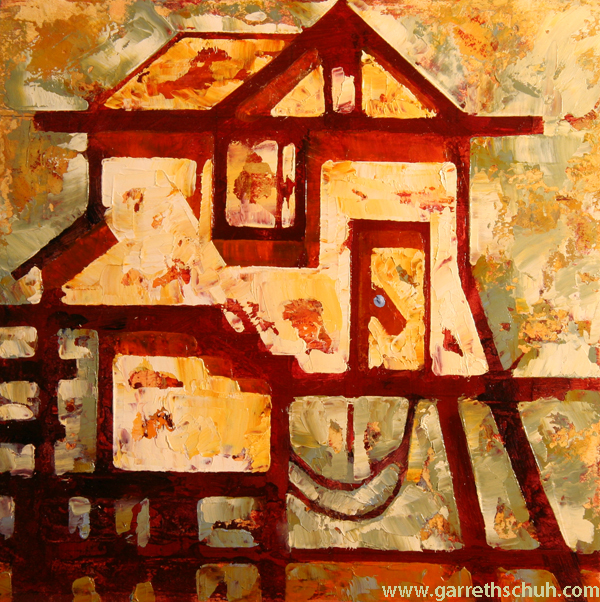 w SHRIMP SHED 2014 8X8 oil on plywood copy