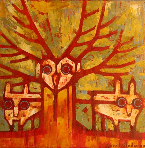 w TREE SPRITES 2014 8X8 oil on plywood copy