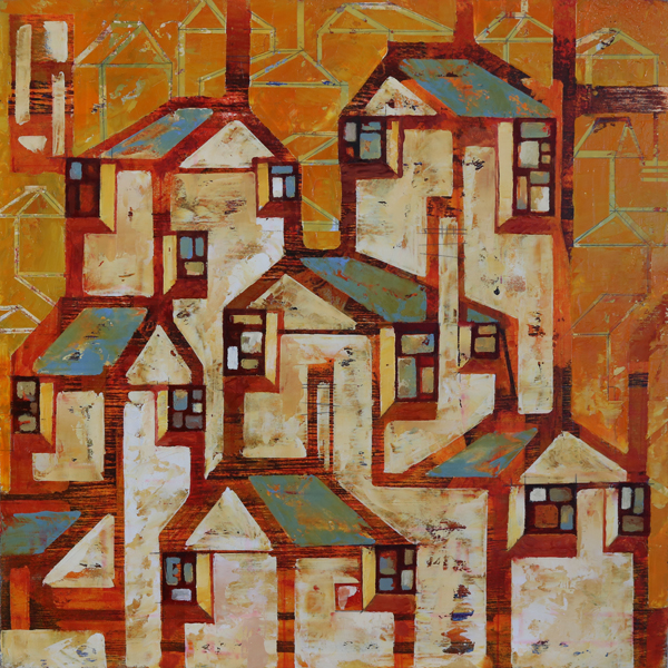 w-blue-roof-village-16x16-2016-oil-on-plywood