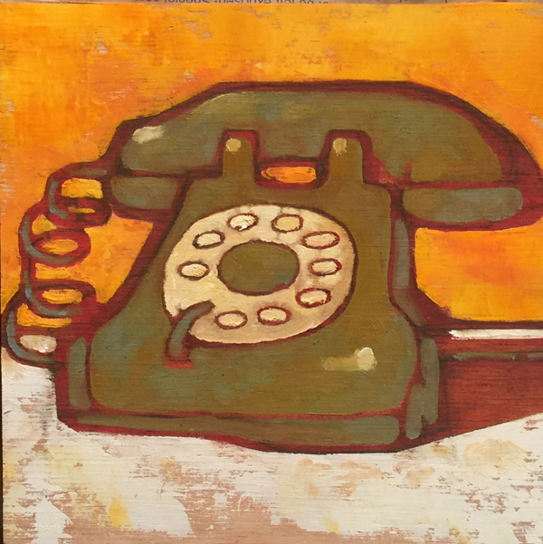 w-green-phone-8x8-2016-oil-on-plywood